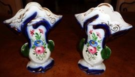 Antique Matching Vases, Marked