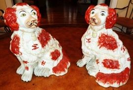 Possibly  Staffordshire Porcelain Dogs