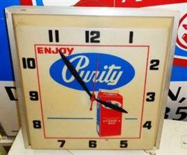 Vintage Purity Milk Clock