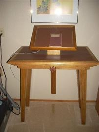Unique adjustable book stand - or pulpit