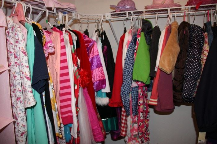 Large selection of children's clothing
