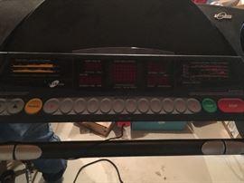Treadmill panel