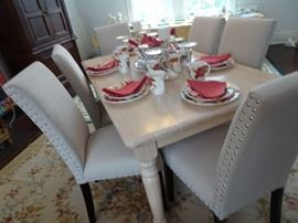 Contemporary Chairs and Table recently purchased for House Staging