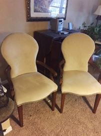Two very soft velvet like chairs, very versatile