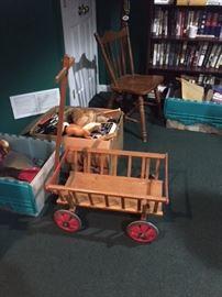 Cute vintage wooden wagon