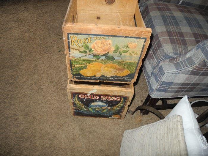 Nice fruit crates