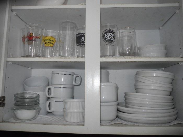 More beer glasses, some Crate and Barrel dishes