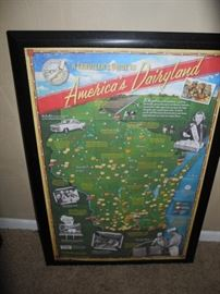 Wisconsin framed poster