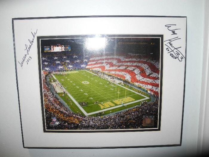 Autographed stadium photo