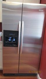 Kitchen Aide side by side stainless refrigerator