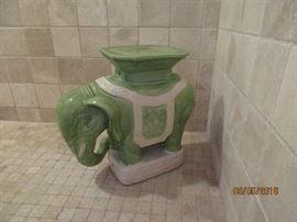 large ceramic elephant seat