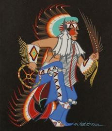 Mid 29th Century Native American Art full