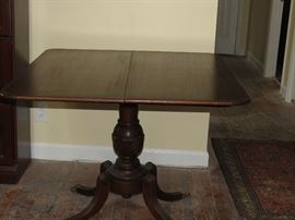 MAHOGANY GAME TABLE.   DATE OF SALE CHANGED TO SUNDAY 10-4.