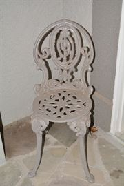 Pair of Metal Chairs, Front Porch