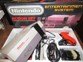 1987 Nintendo Gaming Entertainment System, all parts present, in original box.
