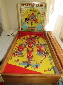 Vintage State Fair children's Pinball Machine (lights work), has legs