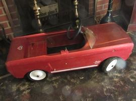 Vintage AMF Junior Toy Division children's Mustang 535 in Red