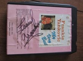Yaaaaas, Frank Yankovic autographed 8 Track tape, his very best!