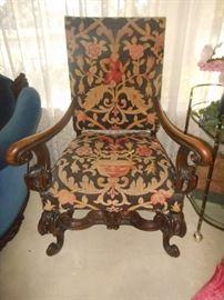 Antique queen chair