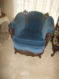 Antique stuffed arm chair