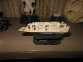 ivory/bone ship