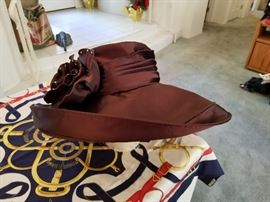 Brown classic church hat or Kentucky Derby hat