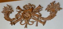 Louis 16 carved fruit wood applique.