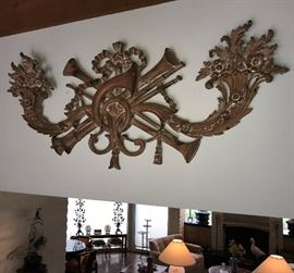Louis 16 style fruitwood carved panel