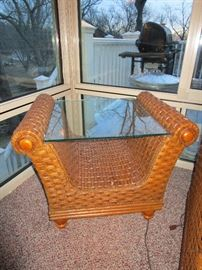 Boca Rattan Glass Top Quality American Made Table
