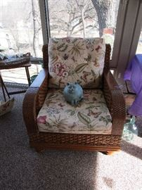 Boca 2nd Rattan Chair Quality Made In USA and the Adorable Cat Statue is Looking For A Home Too.