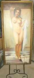 NUDE OIL ON CANVAS BY REGAL GALLERIES