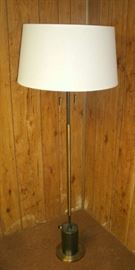 MID-CENTURY DOUBLE PULL CHAIN FLOOR LAMP