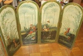 FOUR PANEL HANDPAINTED CHINESE ROOM DIVIDER