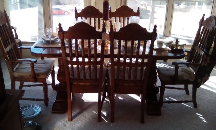 American Drew table, chairs