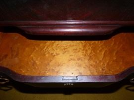 Amazing....bird's eye maple inside drawers !