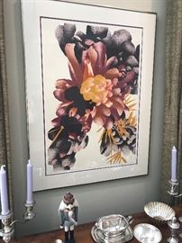 "Sandra Kaplan Lithograph 1981 7/50  'Colo Cactus' Framed & Matted (image size - 20""x29"")   $400"