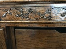 Baker Credenza (carving & interior drawer detail)
