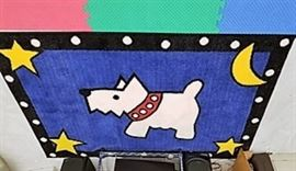 Area Rug with Dog