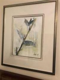 3 framed signed prints