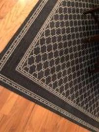 Area rug patterned