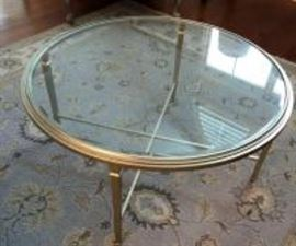 Bevel glass coffee table