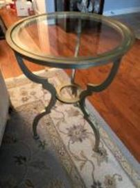Bevel glass end table