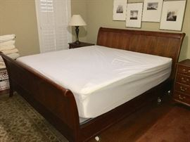 Leopold Stickley King bed and mattress