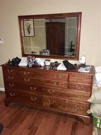 Stickley dresser and mirror