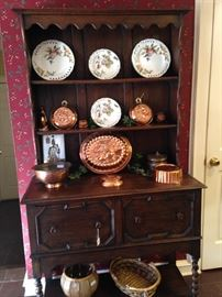 Barley Twist Welsh dresser; great copper selections