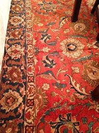 Stunning Persian Tabriz 9 feet 4 inches x 13 feet rug