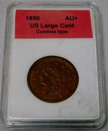 1850 US Large Cent Coronet Type