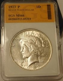 1923-P Peace Silver Dollar MS66