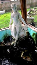 Marble fountain statue salvaged from the old Governor's mansion in Montgomery Alabama with documentation to prove it.