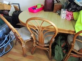 Rattan Chairs and adjustable table